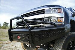 Fab Fours Ch11-s2762-1 Black Steel Front Ranch Bumper