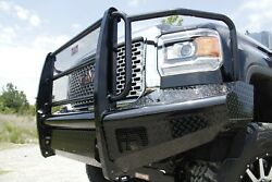 Fab Fours Gm14-s3160-1 Black Steel Front Ranch Bumper