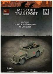 Battlefront FoW WWII Soviet 15mm M3 Scout Transport (x3) Pack MINT