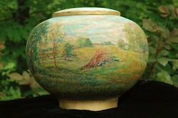 Limited Addition 180 Degrees Hand Painted Wood Adult/large Funeral Cremation Urn