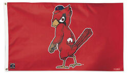 St. Louis Cardinals Retro-1950s Fearsome-bird 3'x5' Official Mlb Deluxe Flag