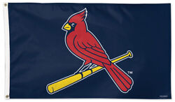 St. Louis Cardinals Bird-on-bat Logo-style 3'x5' Official Mlb Deluxe Flag