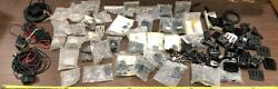 Lot Of Boat Transom Mount Transducer Brackets And Parts, Plus 3 Transducers