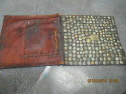Leather Saddle Bag With Over 250 Coins From 1800and039s Riveted To It 18 X 38 Inch