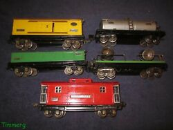 5 Lionel 800 Series O Gauge Freights 814 812 820 815 817 Tinplate