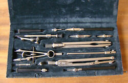 Vintage Technical Mathematical Drawing Instruments Geometry Set Ussr
