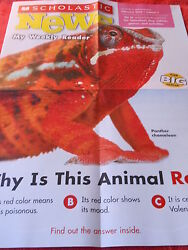 SCHOLASTIC NEWS POSTER FEBRUARY 2013 PANTHER CHAMELEON WHY IS THIS FIRST GRADE