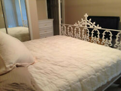 king sized four post wrought iron bed frame - beautiful