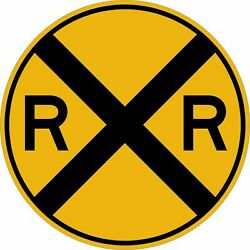 Railroad Crossing Decal Sign Sticker 3m Vinyl Usa Made Truck Vehicle Window Car