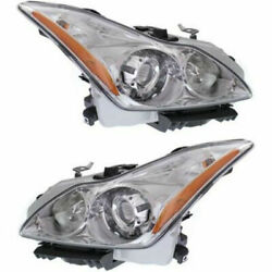 New Set Of 2 Lh And Rh Side Hid Headlamp Assembly Fits 2008-2010 Infiniti G37