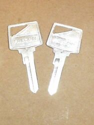 Nos Pair Of 1965-66 Ford Falcon Ignition Switch Key Blanks C5dz6222053a