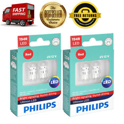 Philips 4 PCS Red Bright LED Instrument Panel Light Bulb For 69-1973 Jeep J-2600