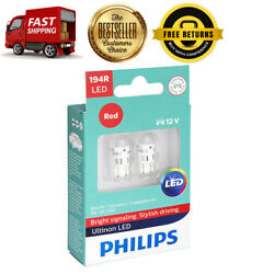 Philips 2X Red Bright LED Instrument Panel LightBulb For 63-1997 Continental