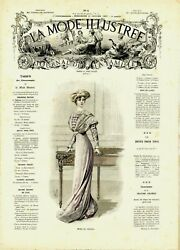 Mode Illustree Sewing Pattern Jan 24,1909 - Dresses And Blouses