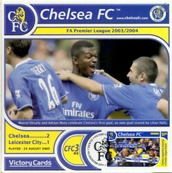 Chelsea 2003-04 Leicester City Marcel Desaily Football Stamp Victory Card 303