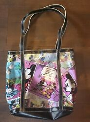 Disney Mickey Minnie Mouse Comic Strip Purse Disney Tote Nice Condition $25.00