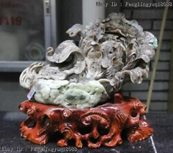 11 Chinese Fengshui Sculpture Natural Dushan Jade Chinese Cabbage Wealth Statue
