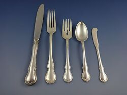 French Provincial By Towle Sterling Silver Dinner Flatware Set Service 51 Pieces