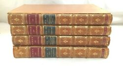 Antique Leather Book 4 Volume Set The Works Of Laurence Sterne Browne 1873