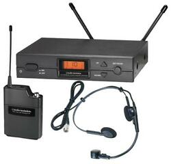 Wireless Headset Mic System With Pro8hecw Channel 38 - Audio Technica