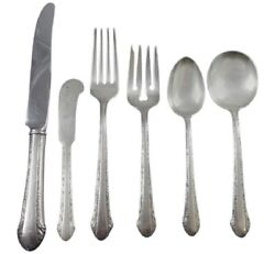 Chased Romantique By Alvin Sterling Silver Flatware Set For 8 Service 49 Pieces