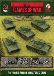 Battlefront FoW WWII Soviet 15mm T-26 obr 1939 Light Tank Company Box SW