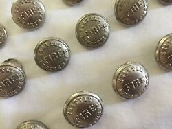 Assorted Lot Of Mid-century Seattle Fire Department Uniform Buttons 5/8 And 7/8