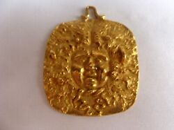 MAGNIFICENT 18K YELLOW GOLD PENDANT NECKLACE BY ITALIAN DESIGNER GALLO ALFONSI