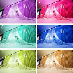 Wedding Party Backdrop Swag Curtains Event Stage Decoration Background Ice Silk