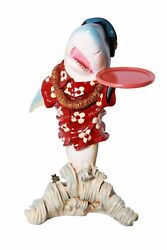35 Sharky Butler With A Tray Statue Novelty Restaurant Kitchen Collectible