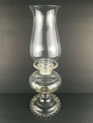 Imperial Candlewick Candle/oil Lamp Style W/ Original Smooth Top Shade Very Rare