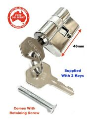 Replacement Security Screen Door Lock Cylinder With 2 Keys-free Post