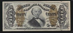 Us 50c Fractional Currency 3rd Issue Type Ii Fr 1339 V Ch Cu 015