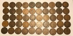 Complete Roll Of 50 1881 Indian Head Cents Pennies Solid Good+ Free Shipping
