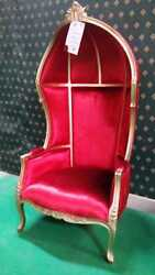 Designer Hooded Baloon Butler hall chair for prop , movie , music video hotel