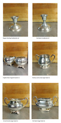 Large Collection Of Silver 625 Silverplate Sterling Etc