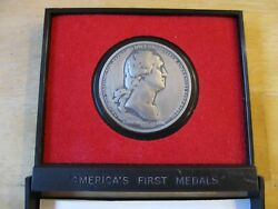 Washington Before Boston Americas 1st Medals Made Of Pewter In Holder