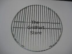 Big Green Egg Charcoal Grill Stainless Steel Hinged Cooking Grate 18.1875 New