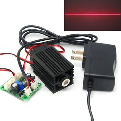 Focusable 650nm 200mw Red Line Laser Diode Module Ttl Driver + 12v Adapter