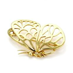 Tiffany & Co. Vintage 18k Yellow Gold Butterfly BroochPin