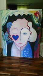 Witch Painting Canvas 5.5 Feet Tall