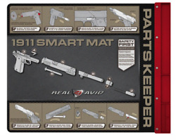 """Real Avid Smart Gun Cleaning Mat 43""""x16"""" With Parts Tray For 1911 Msr Graphics"""