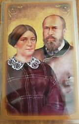 Saints Louis and Zelie Martin laminated prayer card $1.80