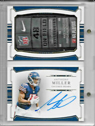2018 National Treasures Anthony Miller Rpa Rc Jumbo Book Auto 1/1 Nike Patch 4/5
