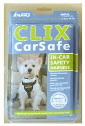 CLIX Car Safe Harness SMALL dog fits to car w seat belt buckle walking harness