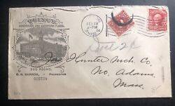 1904 Boston Ma Usa Postage Due Advertising Cover To North Adams Quincy Hotel