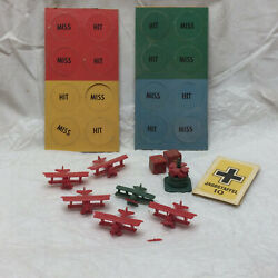 Vintage Red Baron Game Parts Toy Pieces Plastic Airplanes Dice