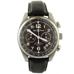 Bell And Ross 126.xl Brown Dial Auto Antimagnetic Chrono Stainless Steel Men Watch