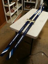 Vintage Franz Kneissl Touring 205 Cm Cross Country Skis With Dovre Bindings