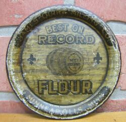 Antique James Quirk Milling Co Best On Record Flour Tip Tray Minneapolis Minn